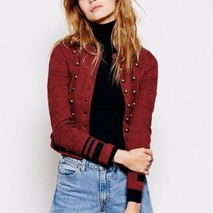 FREE PEOPLE Military Sweater